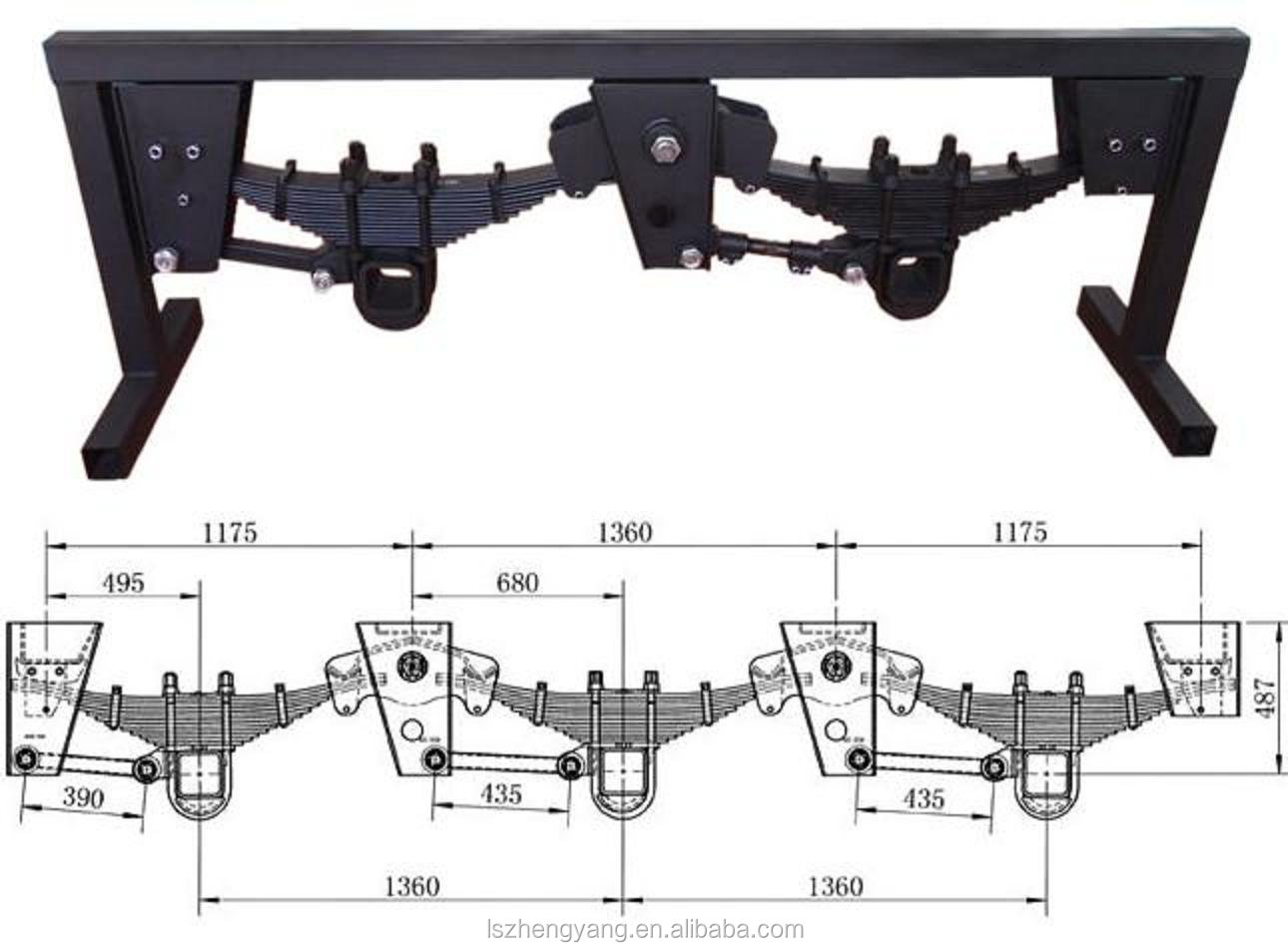 hight resolution of suspension system parabolic leaf spring for semi trailer truck tractor manufacturer
