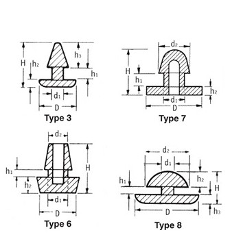 Silicone Wiring Grommets,3 Through Holes 9 Holes Wire