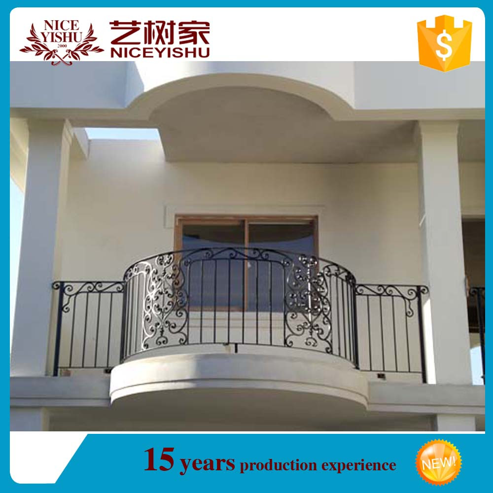 Italian style exterior new design modern curved wrought