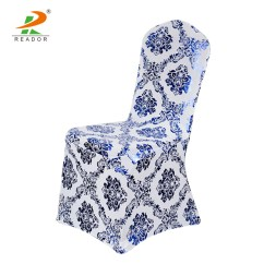Blue Spandex Chair Covers Tripp Trapp Harness Royal Metallic Damask Cover Buy