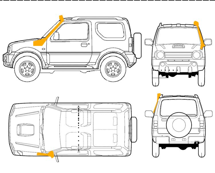 Auto Parts Accessories 4x4 Snorkel 4wd Air Intake Car