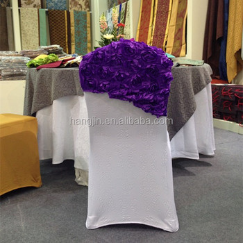 universal banquet chair covers diy recliner 3d air layer spandex cover with purple wedding decoration caps