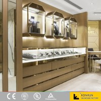 Jewelry Wall Mounted Display Showcase For Interior Design ...
