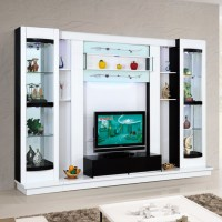 Latest Design Diy Modern Tv Wall Unit 012# Wood Led Tv