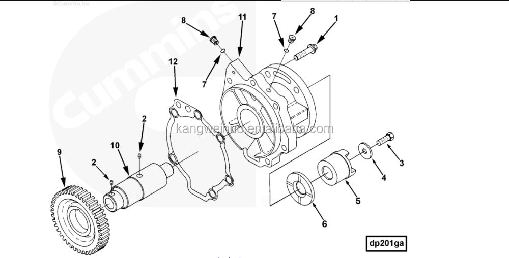 L10 dieselmotor deel Acc Drive Ondersteuning Pakking