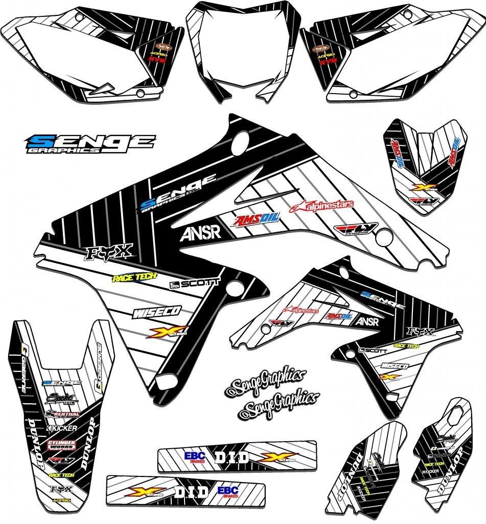 Buy Senge Graphics 1999-2000 Suzuki RM 125 Black 2013 Fly