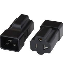 get quotations adapter iec60320 c20 plug to nema 5 15 20r t slot connector black [ 1385 x 1385 Pixel ]