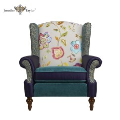 Single Sofa Chair Simmons Upholstery Soho Seater Fabric Patchwork Upholstered Luxury Throne Jennifer Taylor Floral Velvet Armchair