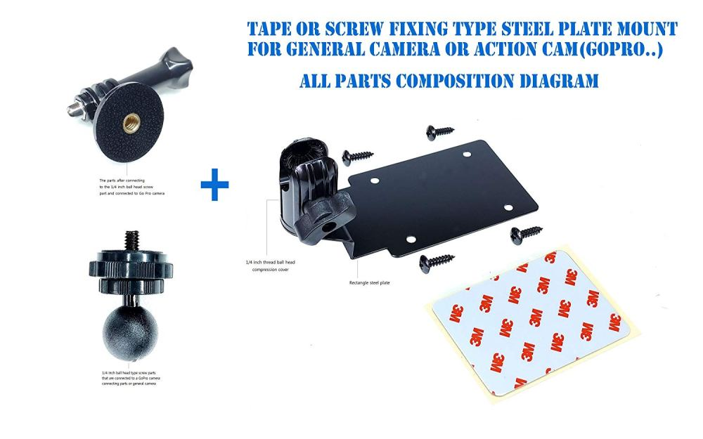 medium resolution of rectangular steel plate shape simple assembly type wall mount ceiling mount with a ball head compression