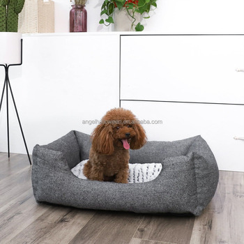 soft sofa dog bed how to decorate living room with dark chocolate leather sofas pet large comfy luxury anti slip tweed quality durable ad232