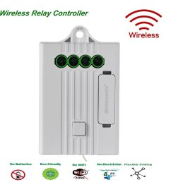 breezesmile remote relay controller simple wired in 4 wire receiver compatible with wireless light [ 1000 x 1000 Pixel ]