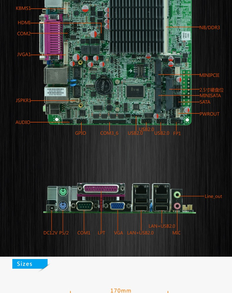 Factory Intel J1800 241 Ghz Dual Core Cpu Motherboard Electric Circuit Board Processor Tshirt Slim Fanless