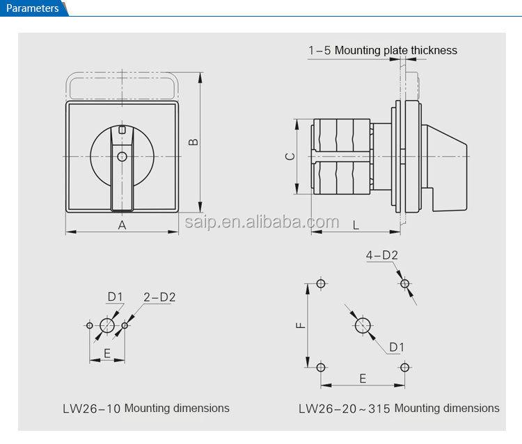Ip65 Eléctrica Manual Dc Interruptor De Transferencia