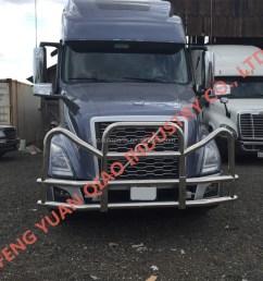 truck bumper guard for 2018 new volvo vnl vnr deer guard for 2018 new freightliner cascadia [ 1059 x 1060 Pixel ]