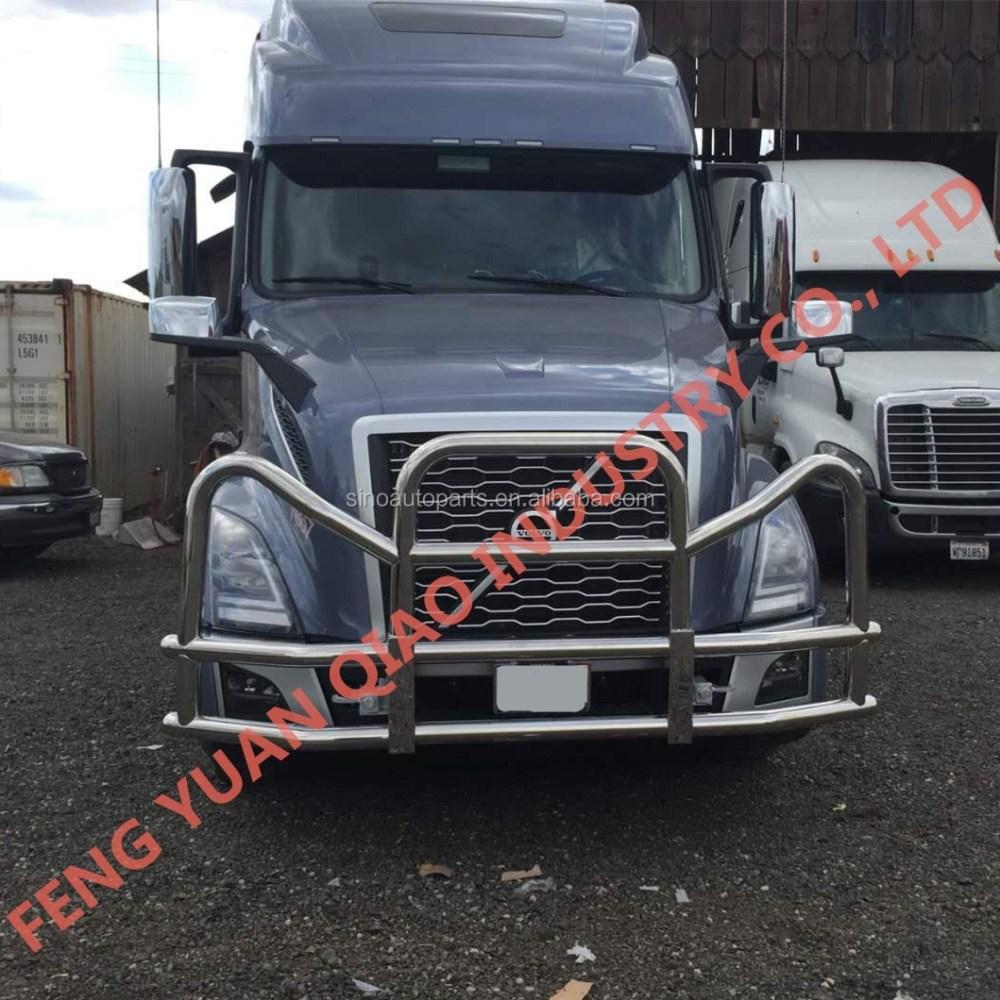 medium resolution of truck bumper guard for 2018 new volvo vnl vnr deer guard for 2018 new freightliner cascadia