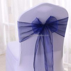 Buy Chair Covers And Sashes Chevy Tahoe With Captain Chairs Wholesale Cheap Navy Blue Wedding Organza Sash
