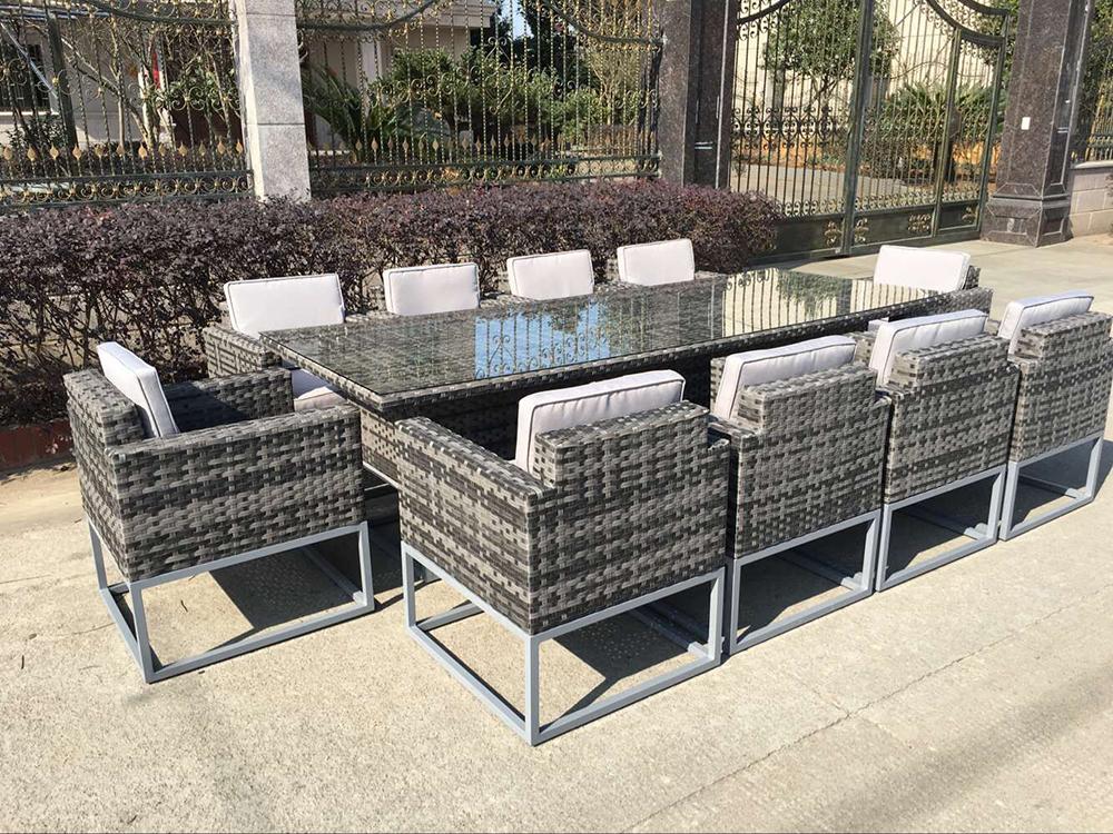 ensemble table a manger en rotin mobilier d exterieur de luxe 10 places chaise de jardin 11 pieces buy meubles de salle a manger chaises de salle a
