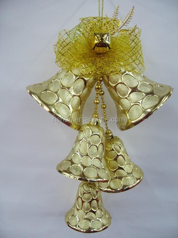decoration large gold plastic christmas tree bells whole - Large Plastic Christmas Bell Decorations