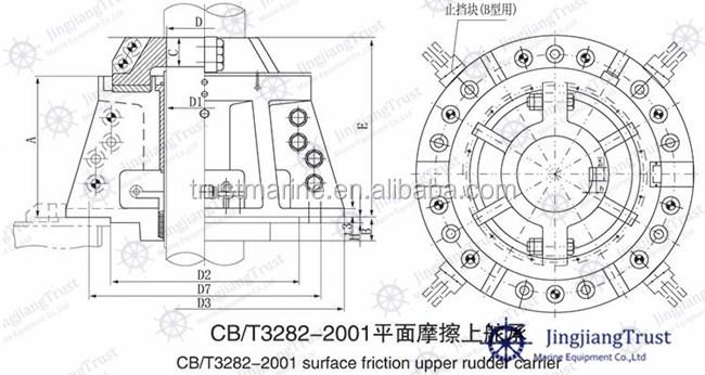 Cb3282-87 Marine Surface Friction Watertight Upper Rudder