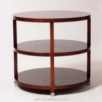 Industrial Round Coffee Table With Stainless Base,High End ...