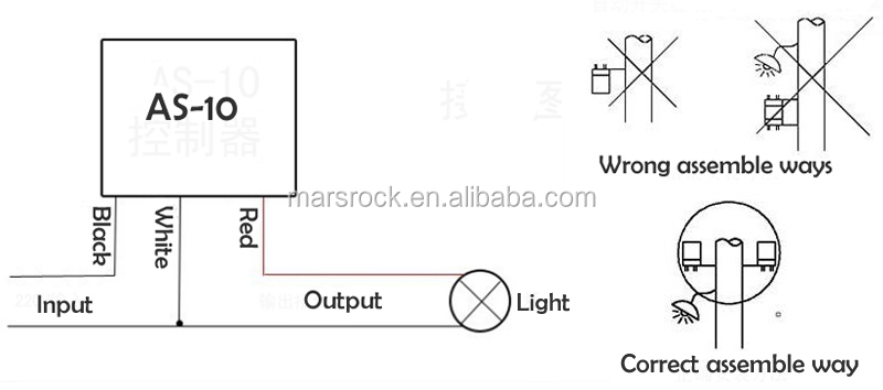 As-10 10a 12v Street Road Light Auto Operated Control