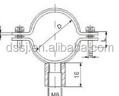 New Designed Vertical Wall Mount Pipe Clamp,Pipe Clamp