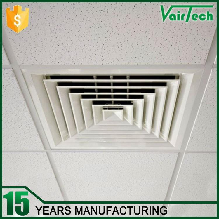 Air Conditioning Decorative Adjustable Ceiling Diffuser