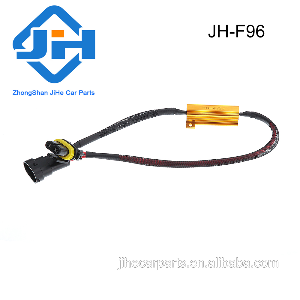 hight resolution of h11 led fog load resistor hid drl lamp decoder adapter canbus wire harness