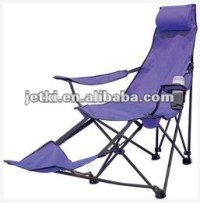 Purple Beach Lounge Chair With Footrest