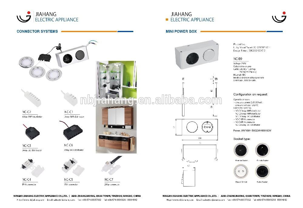 Ningbo Jiahang Ip20 Power Box 12v Euro Box Power Box 60w