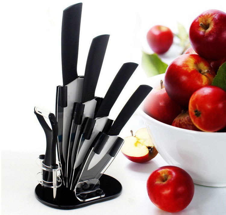kitchen knife sets for sale espresso and white cabinets cheap black set find deals on get quotations free shipping hot blade ceramic chef knives 3 4