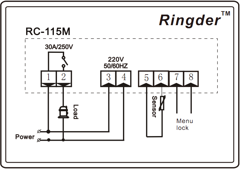 RINGDER RC-115M Digital Boiler / Water Heater Temperature