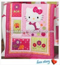 Cute Hello Kitty Baby Girl Crib Bedding Set - Buy Bedding ...