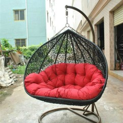 Hanging Chair Double Dorm Cover Eden Garden Furniture Wicker Rattan Swing With Two Seats Patio
