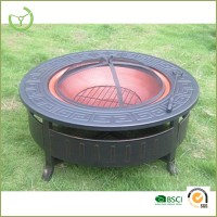 Outdoor Fire Pit Bbq Cast Iron Outdoor /round Metal Fire ...