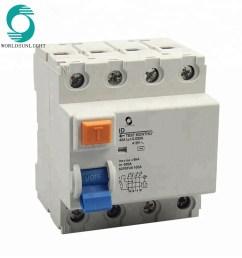 xid 415v 4p 40a 30ma earth leakage circuit breaker elcb [ 1000 x 1000 Pixel ]