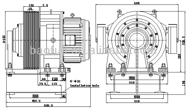 High Quality Magnet Motor|gearless Traction Machine