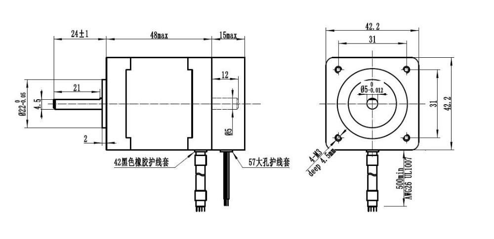 Nema 17 Closed Loop Stepper Motor With Encoder For Cnc