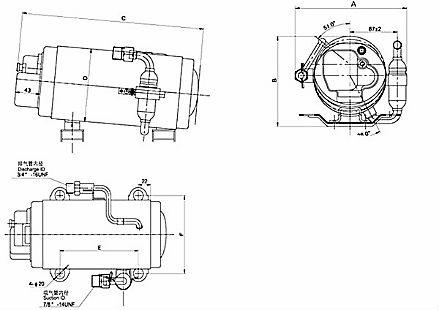 R134A DC 12V Refrigeration Compressor Vertical Rotary