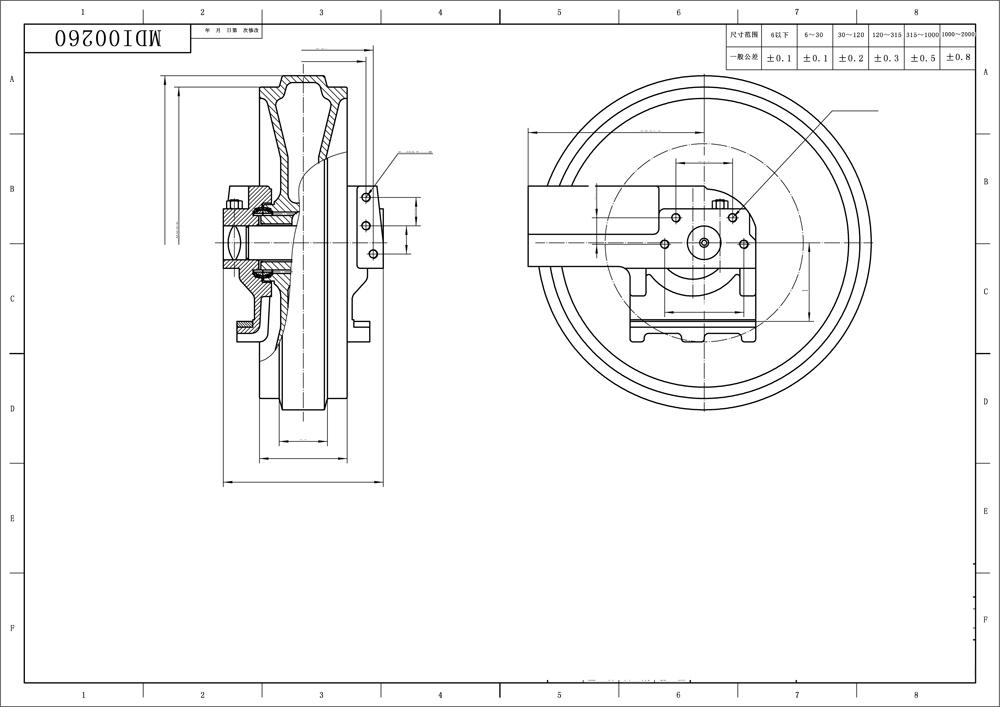Bulldozer Undercarriage Parts D5c/d5g Front Idler 8y5049