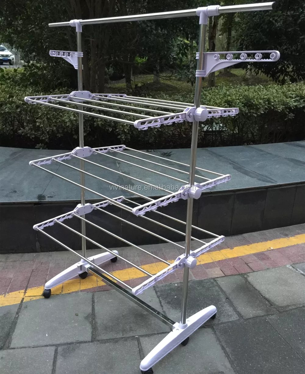 3 tier foldable laundry drying rack indoor outdoor clothes dryer airer for clothes with shoes rack white buy outdoor clothes dryer laundry drying