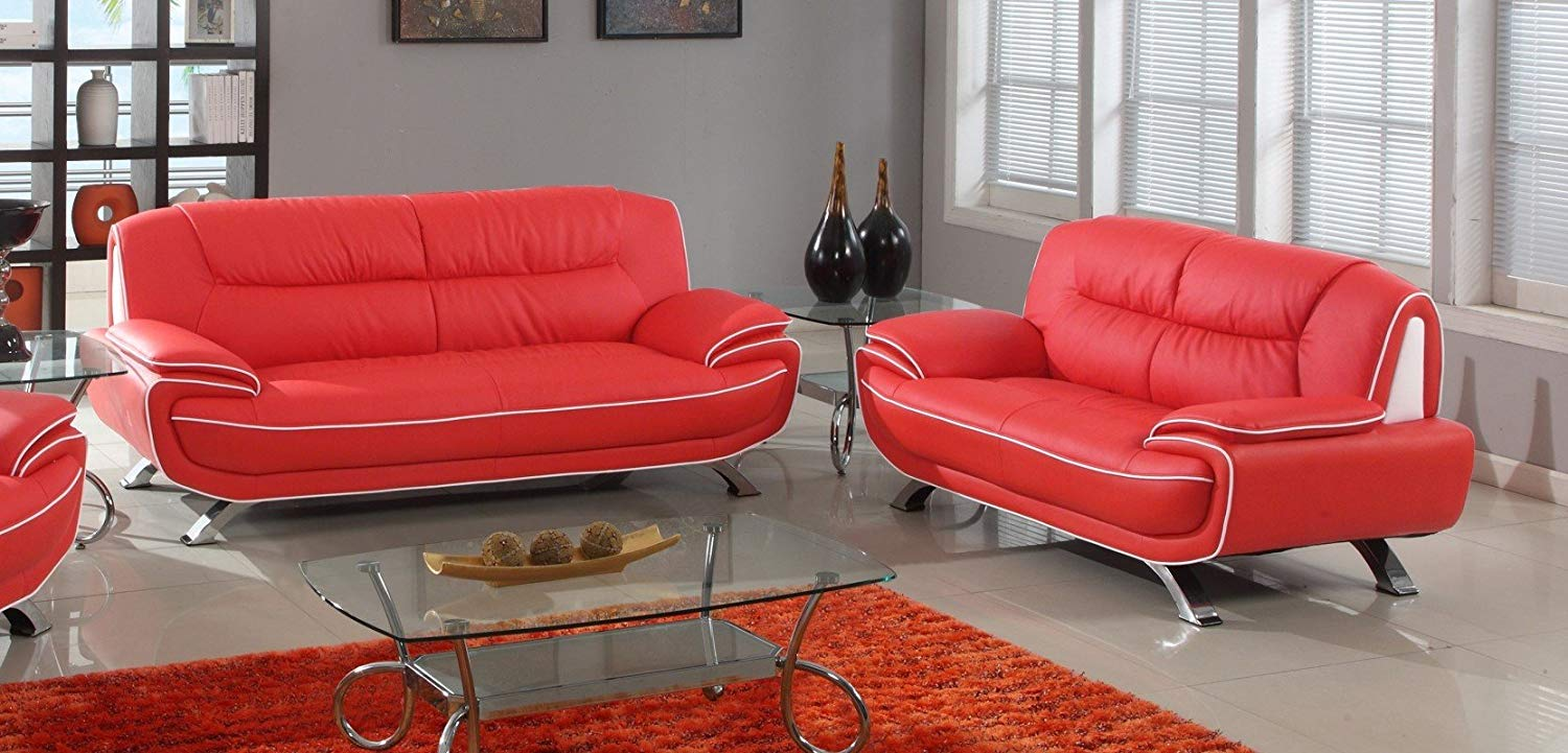 leather red sofa slipcovers for and loveseat cheap find deals on line at alibaba com get quotations blackjack furniture 405 2pc series modern faux