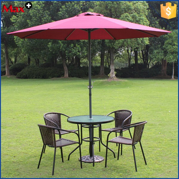 Patio Umbrella with Table and Chairs