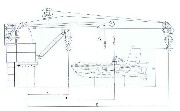 Hydraulic Telescopic Mobile Pedestal 30 Ton Marine Deck