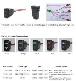 push button switch hilux fuel pump symbol with two color leds [ 1000 x 1217 Pixel ]