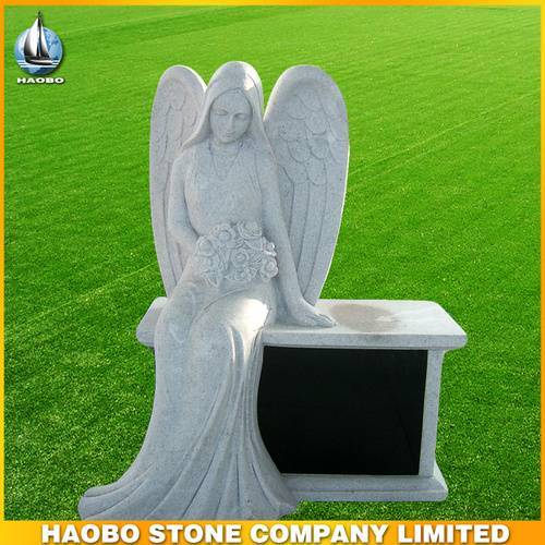Marble Angel With Bench Tombstone For Cemetery  Buy White