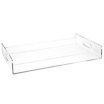 Clear Acrylic Serving Tray Breakfast Trays With Handles - Buy Crystal Rectangular Acrylic Serving Tray Breakfast Food Tray.Clear Lucite Serving ...