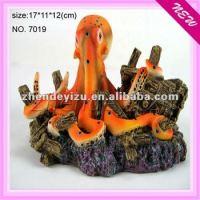 Large Resin Aquarium Octopus Decoration Ornament For Fish ...