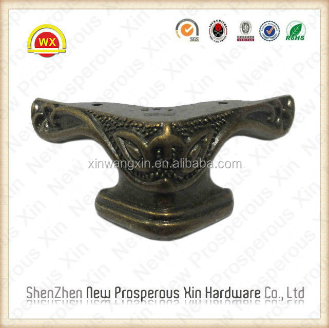 Silver Metal Corner Protector With Foot For Box Table Decorative Bottom Angle 42