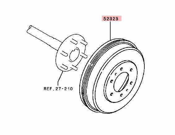 Brake Drum For Mitsubishi Pajero Montero Sport Triton L200
